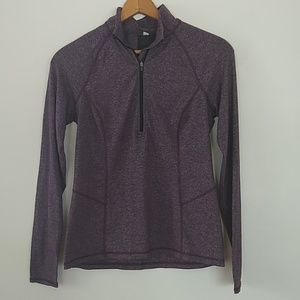 Lucy purple heathered half zip jacket EUC M/L